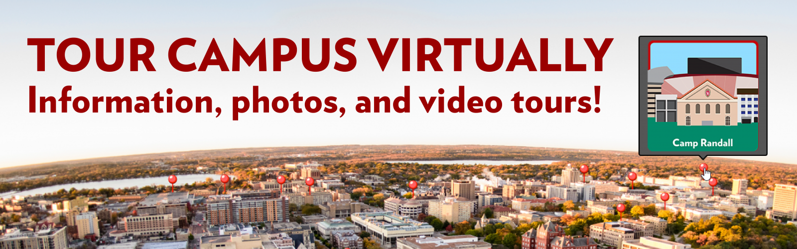 Tour Campus Virtually - information, photos, and video tours