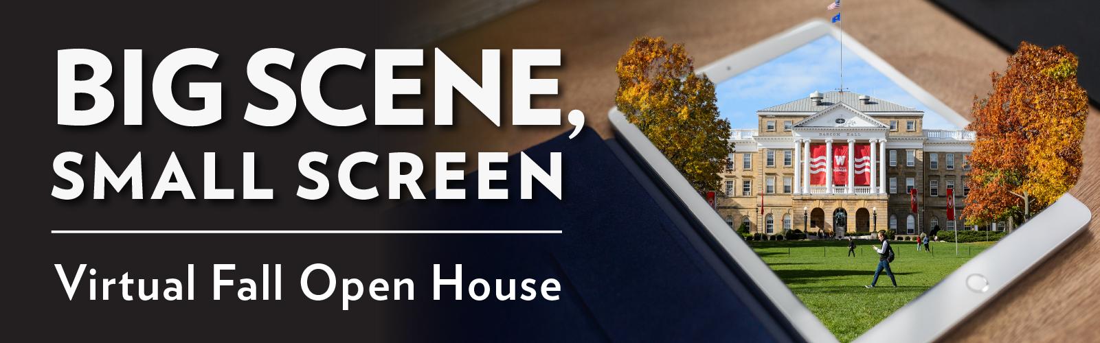 Big Scene, small screen. Virtual Fall Open House