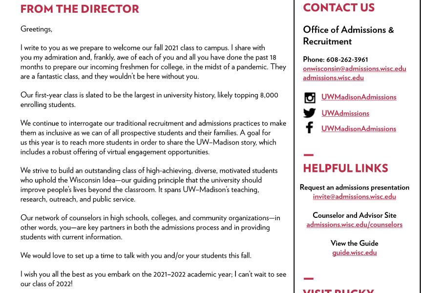 Fall Counselor Newsletter